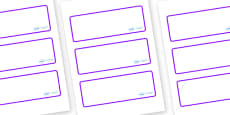 Lynx - Star Constellation Themed Editable Drawer-Peg-Name Labels (Blank)