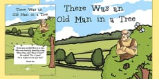 There Was an Old Man in a Tree Edward Lear Poem Poster