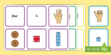 * NEW * 0-20 Visual Number Matching Cards