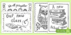 Back to School Themed Mindfulness Coloring