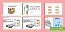 Year 5 Measurement Converting Measures Maths Mastery Challenge Cards