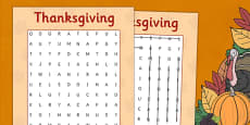 Thanksgiving Wordsearch