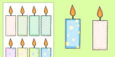 Editable Birthday Candles Arabic