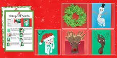 Christmas Themed Hand and Footprint Craft Pack
