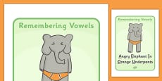 Remembering Vowels Display Posters