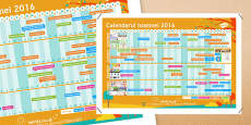 Calendarul toamnei Calendar de perete Romanian