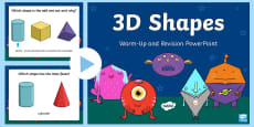 3D Shapes Warm Up and Revision PowerPoint