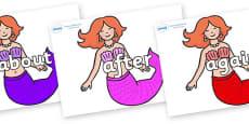 KS1 Keywords on Mermaids