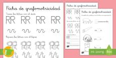 * NEW * Ficha de grafomotricidad: La letra RR