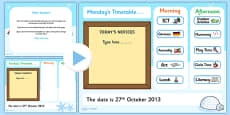 KS1 Visual Timetable Interactive PowerPoint Winter