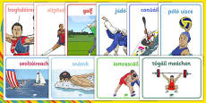 Rio 2016 Olympics Sport Posters Gaeilge