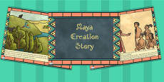 Mayan Civilization Creation Story PowerPoint