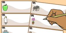 Bear Themed Editable Drawer-Peg-Name Labels