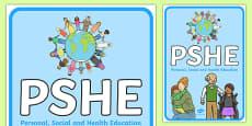 PSHE Display Poster