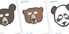 Bear Role Play Masks