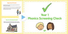 Year 1 Phonics Screening Check: A Guide for Parents PowerPoint