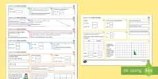 Half Term 1 Middle Ability Maths Activity Mats