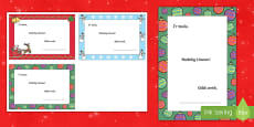 Merry Christmas Welsh Writing Template