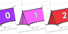 Numbers 0-100 on Tents
