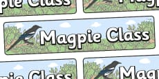 Magpie Themed Classroom Display Banner