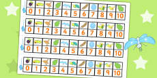 Number Track 0-10 to Support Teaching on The Crunching Munching Caterpillar