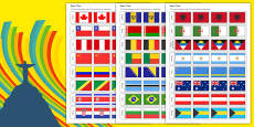 Rio Olympics 2016 Country Flags Paper Chain