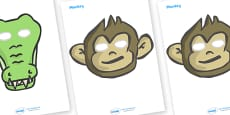 Five Little Monkeys Role Play Masks