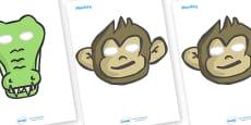 Five Little Monkeys Role Play Masks