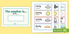 Weather Display Sign English/Mandarin Chinese