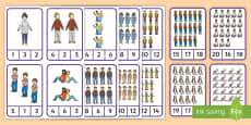 My Family Peg Counting 1-20 Number Cards