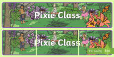 Pixie Class Display Banner