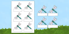 Dragonfly-Themed Editable Self-Registration Labels