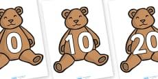 Numbers 0-100 on Teddy Bears (in tens)