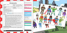 Superhero Flying with Magnets EYFS Adult Input Plan and Resource Pack