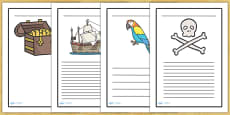 Pirate Writing Frames
