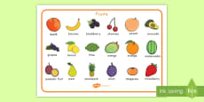 Fruit Word Mat