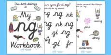 My 'ng' Letter Blend Workbook (Cursive)