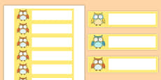 Superb Owl Themed Gratnells Tray Labels