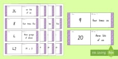 3 and 4 Times Tables Loop Cards
