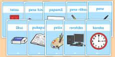Classroom Equipment Labels Te Reo Maori