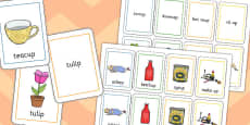 Two Syllable Final 'P' Sound Playing Cards
