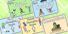 Gym Role Play Signs