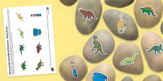 Story Stone Image Cut Outs to Support Teaching on Harry and the Bucketful of Dinosaurs