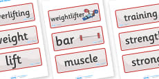The Paralympics Powerlifting Word Cards