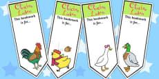 Chicken Licken Editable Bookmarks
