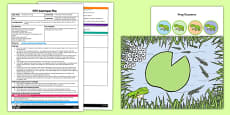 One More and One Less Frog Game EYFS Adult Input Plan and Resource Pack