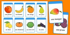 Fruit Flashcards French