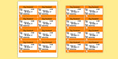 London Underground Role Play Tickets