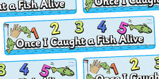 1,2,3,4,5 Once I Caught a Fish Alive Display Banner