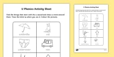 u Phonics Activity Sheet